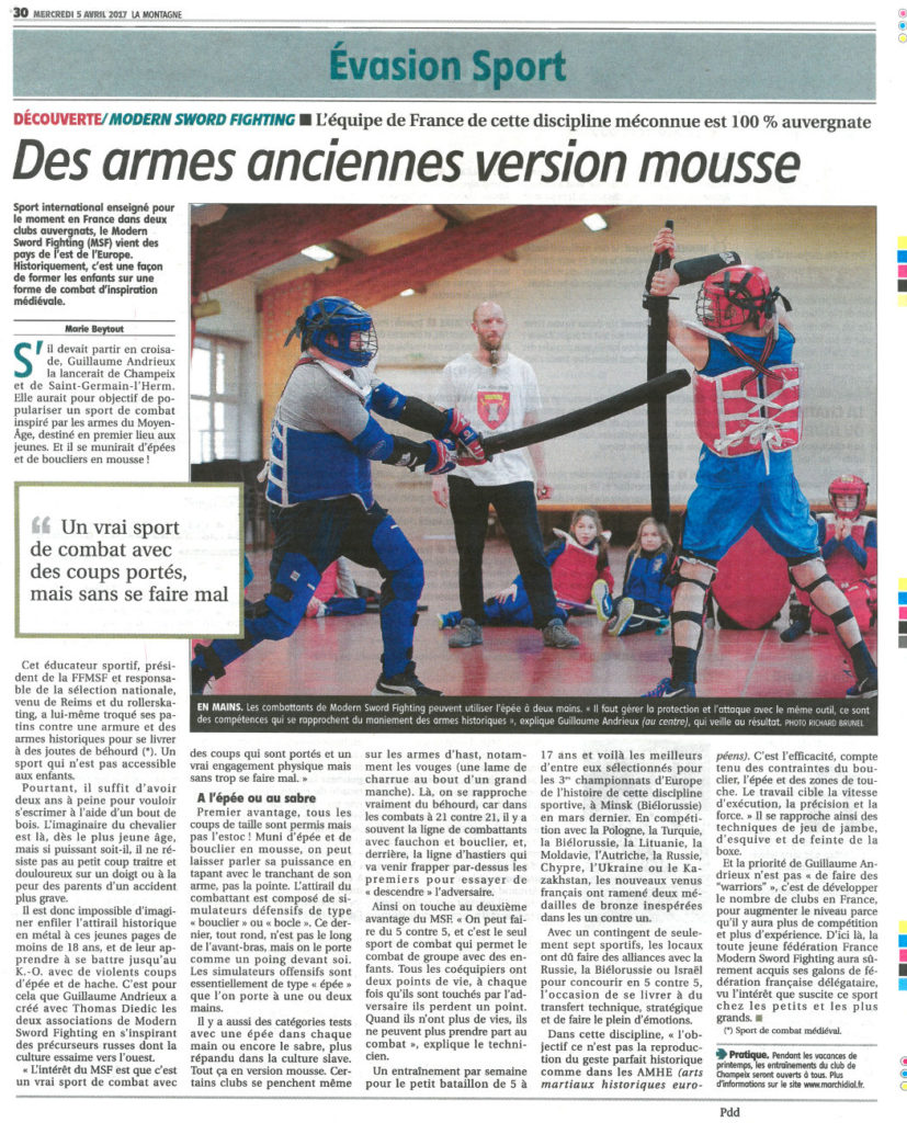 17-04-05 - Article La Montagne page 30